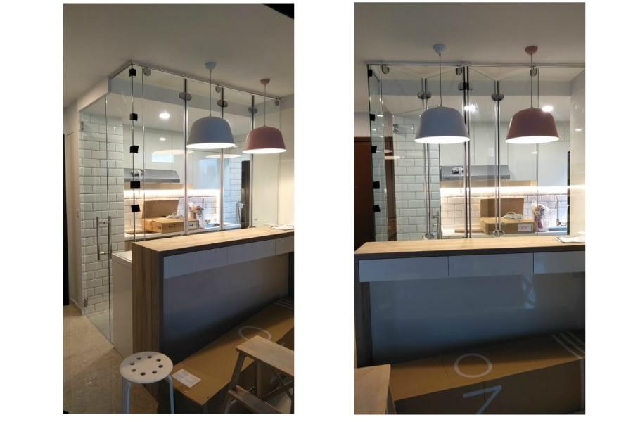 kitchen glass door